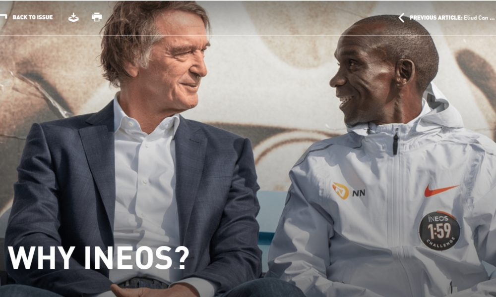 Sir Jim Ratcliffe and Eilud Kipchoge