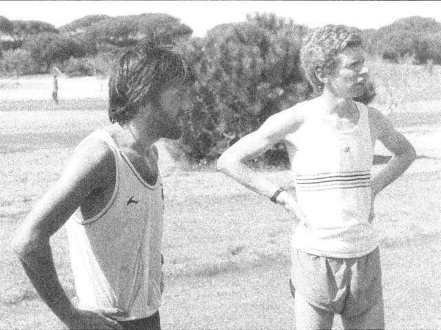Mike Gratton with Hugh Jones training in the Algarve