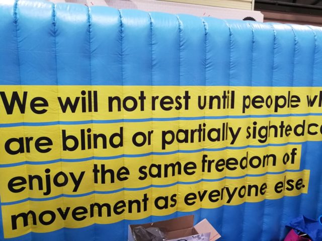 This message resonated with me as I have had the privilege of guiding Ryan to marathon distance, including trail. Messages of inclusion abounded at this event - and the venue too had paid attention to many accessibility requirements  of its visitors