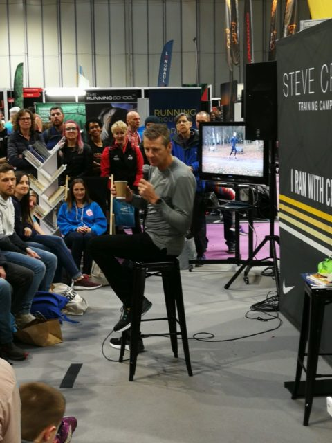 Steve Cram's  diligent team made sure young fans were scooted into the front row, where he addressed them directly and talked pointedly about our responsibilities for the future.
