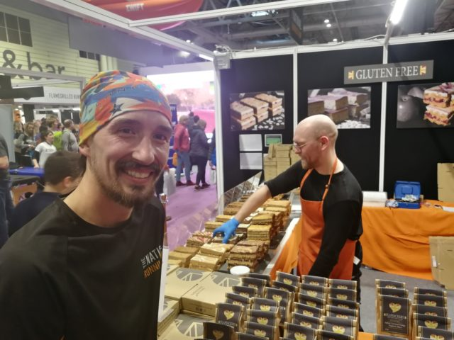 Who did I spot selling wonderful flapjack from Tavistock's Flapjackery... Affable and effervescent Adam Holland the 10 in 10 marathons record holder