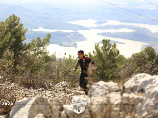 Manavgat Ultra: The tricky ascent up Mount Hatmalar with a view back to where we had started out.