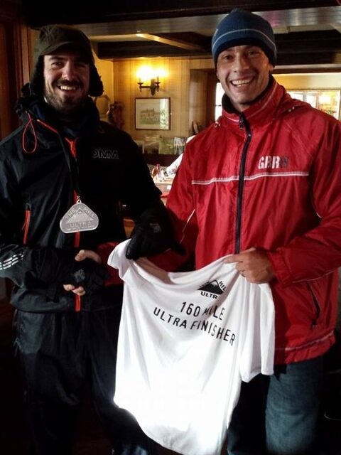 Ronnie being presented with his t-shirt for The Hill by Mark Cockbain